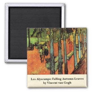 Van Gogh; Les Alyscamps: Falling Autumn Leaves Magnet