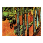 Van Gogh; Les Alyscamps: Falling Autumn Leaves Postcard