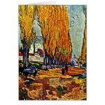Van Gogh - Les Alyscamps Tarjeta Pequeña