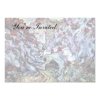 Van Gogh - Les Peiroulets Ravine 5x7 Paper Invitation Card