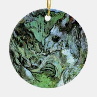 Van Gogh Les Peiroulets Ravine, Vintage Fine Art Ceramic Ornament