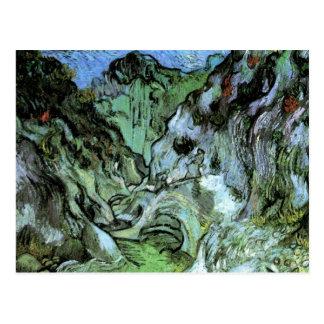 Van Gogh; Les Peiroulets Ravine, Vintage Landscape Post Card