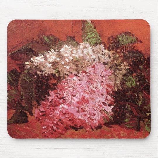 Van Gogh Lilacs, Vintage Pink Flowers Fine Art Mouse Pad