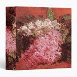 Van Gogh; Lilas. Flores rosadas del vintage, arte