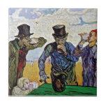Van Gogh - los bebedores Azulejos