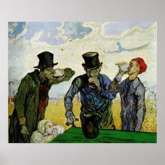 Van Gogh, los bebedores, impresionismo del poste d Poster
