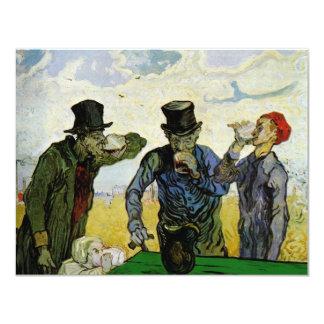 """Van Gogh, los bebedores, impresionismo del poste Invitación 4.25"""" X 5.5"""""""