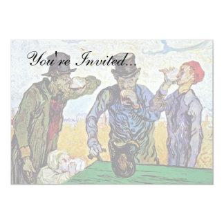 """Van Gogh - los bebedores Invitación 5"""" X 7"""""""