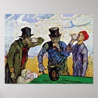 Van Gogh - los bebedores Póster