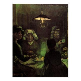 Van Gogh; Los comedores de la patata, impresionism Tarjeta Postal