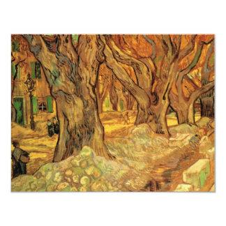 Van Gogh los componedores de camino, bella arte Invitación 10,8 X 13,9 Cm