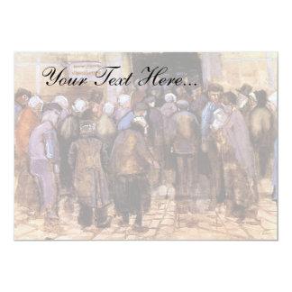"""Van Gogh - los pobres y el dinero Invitación 5"""" X 7"""""""