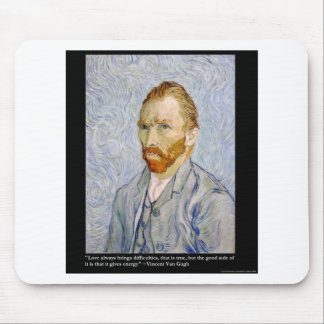 "Van Gogh ""Love/Energy"" &Quote Tee Gift Collectible Mouse Pad"