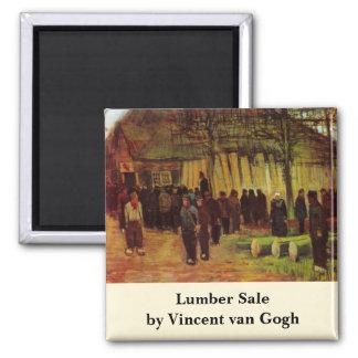 Van Gogh, Lumber Sale, Vintage Impressionism Art Magnet