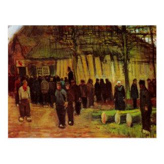 Van Gogh, Lumber Sale, Vintage Impressionism Art Postcard