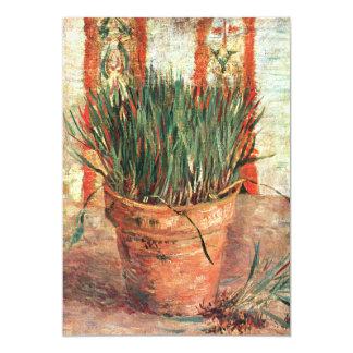 """Van Gogh: Maceta con las cebolletas Invitación 5"""" X 7"""""""
