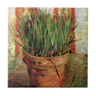 Van Gogh - maceta con las cebolletas Teja