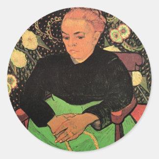 Van Gogh; Madame Roulin Rocking the Cradle Classic Round Sticker