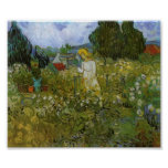Van Gogh - Mademoiselle Gachet in her garden Poster