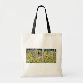 Van Gogh - maleza con dos figuras Bolsas