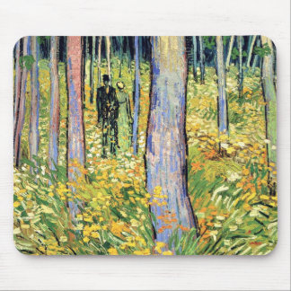 Van Gogh - maleza con dos figuras Alfombrilla De Raton