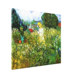 Van Gogh; Margarita Gachet en el jardín, arte del Lona Estirada Galerias