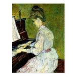 Van Gogh; Margarita Gachet en el piano, arte del Tarjeta Postal