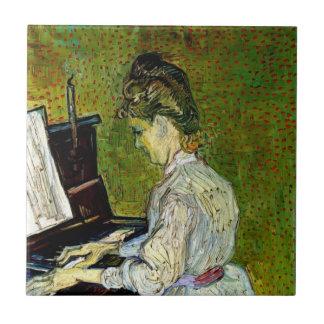 Van Gogh - margarita Gachet en el piano Tejas