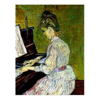Van Gogh - margarita Gachet en el piano Tarjeta Postal