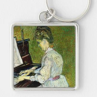 Van Gogh Marguerite Gachet at Piano Vintage Art Keychain