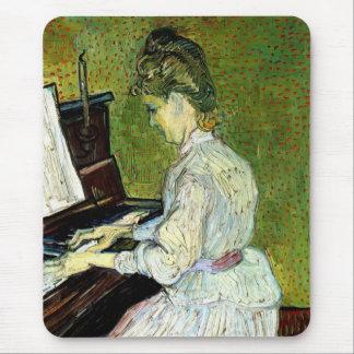 Van Gogh; Marguerite Gachet at Piano, Vintage Art Mouse Pad