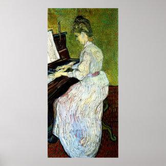 Van Gogh; Marguerite Gachet at Piano, Vintage Art Poster