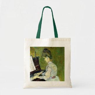 Van Gogh; Marguerite Gachet at Piano, Vintage Art Tote Bag