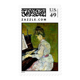 Van Gogh - Marguerite Gachet At The Piano Postage Stamp