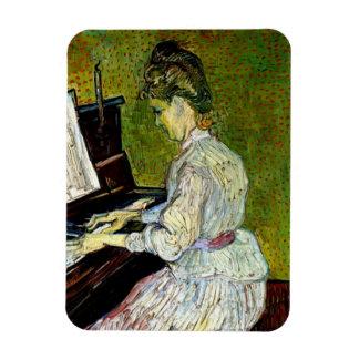 Van Gogh - Marguerite Gachet At The Piano Rectangular Photo Magnet