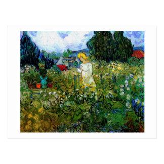 Van Gogh Marguerite Gachet in Garden (F756) Post Cards