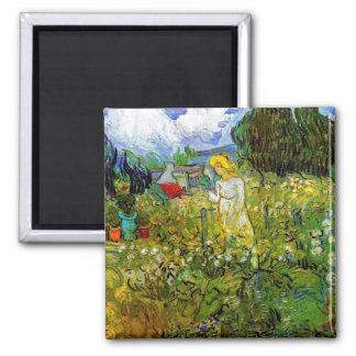 Van Gogh - Marguerite Gachet In The Garden 2 Inch Square Magnet