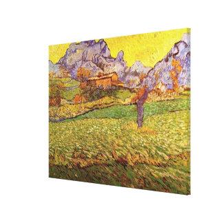 Van Gogh Meadow in Mountains: Le Mas de Saint Paul Canvas Print