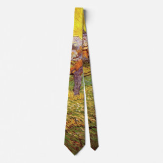 Van Gogh Meadow in Mountains: Le Mas de Saint Paul Neck Tie