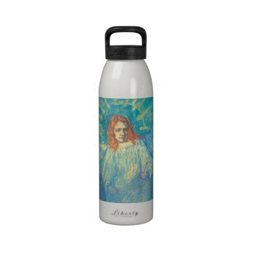 Van Gogh; Media figura de un ángel, arte del vinta Botella De Agua