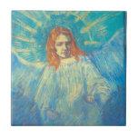 Van Gogh; Media figura de un ángel, arte del vinta Teja Ceramica