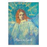 Van Gogh; Media figura de una tarjeta de Navidad d