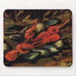 Van Gogh, mejillones y camarón, todavía del vintag Alfombrilla De Ratón
