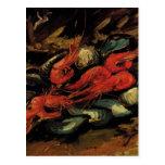 Van Gogh, mejillones y camarón, todavía del vintag Postales