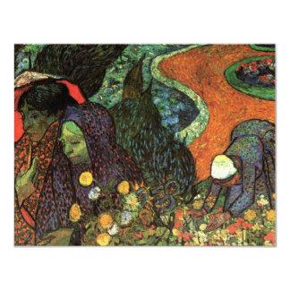 Van Gogh; Memoria del jardín, Etten, arte del Invitación 10,8 X 13,9 Cm