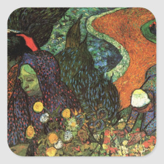 Van Gogh; Memory of the Garden, Etten, Vintage Art Square Sticker