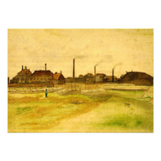 Van Gogh Mina de carbón en el Borinage Invitacion Personal