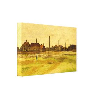 Van Gogh; Mina de carbón en el Borinage Impresión De Lienzo