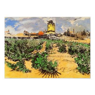 Van Gogh; Molino de Alphonse Daudet en Fontevielle Invitación 12,7 X 17,8 Cm