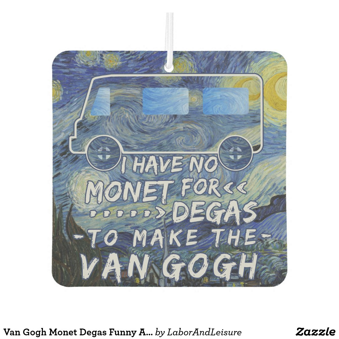 Van Gogh Monet Degas Funny Artist Pun Starry Night Car Air Freshener